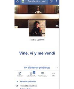 Vine y me vendí, Caín Press, María Lubro, Facebook