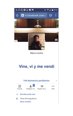 Vine y me vendí, Caín Press, María Lubro, Facebook