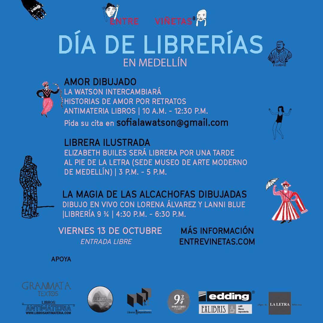 Día de librerías, Entreviñetas, La Watson, La Silueta Ediciones, Cómics, Ilustración, Colombia