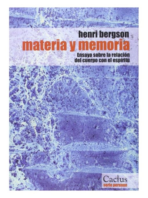 Imágen 1 del libro: Materia y memoria